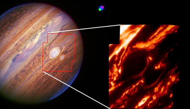 Differences Spotted in Jupiter's Big Red Storms