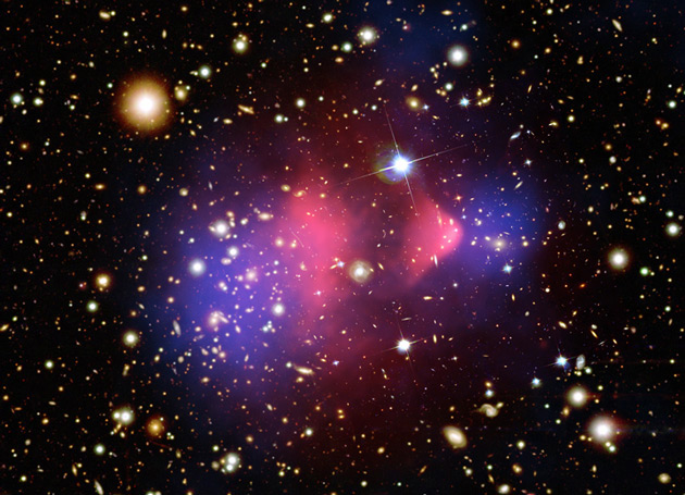 Colossal Cosmic Collision Reveals Mysterious Dark Matter