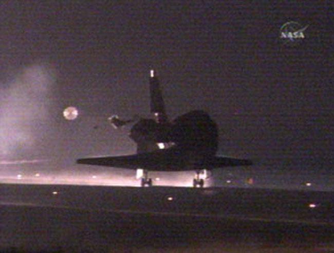 Returning Home: Shuttle Atlantis Lands Safely After Successful Flight