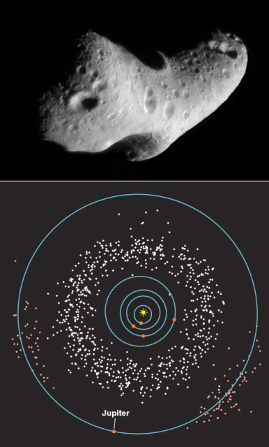 Sunlight Splits Asteroids into Pairs
