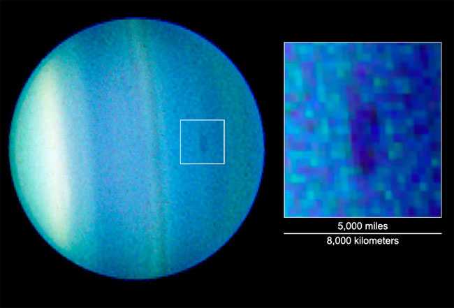 Uranus Has a Dark Spot