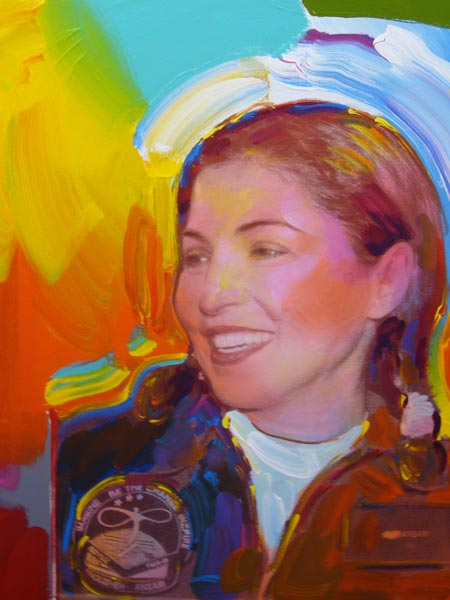 Anousheh Ansari Honored with Portraits by Peter Max