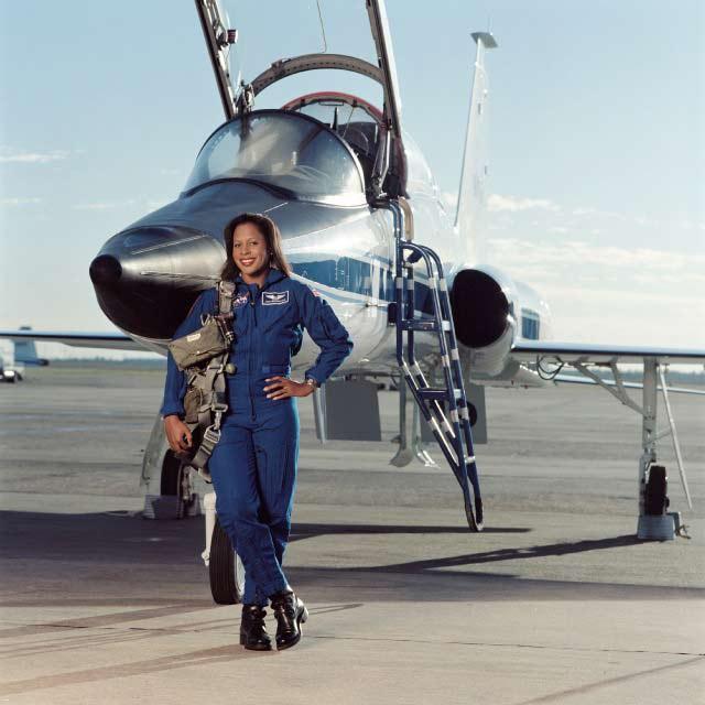 Astronaut Higginbotham and T-38 Jet
