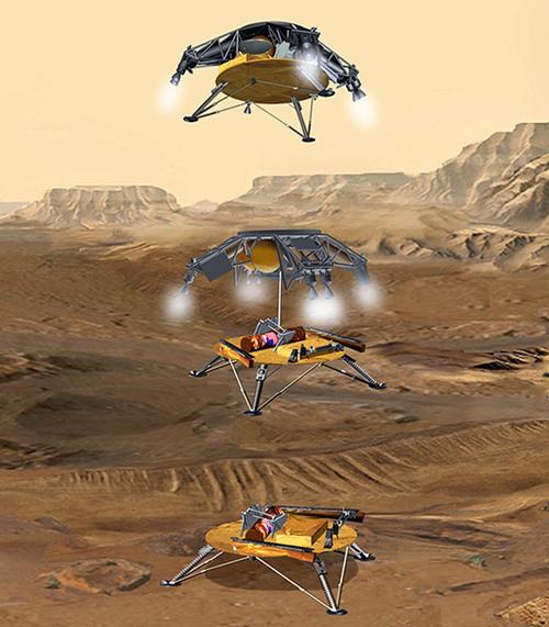 mars rover sky crane - photo #28