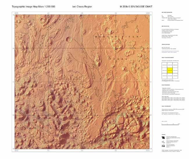'Hiker's Maps' of Mars Created