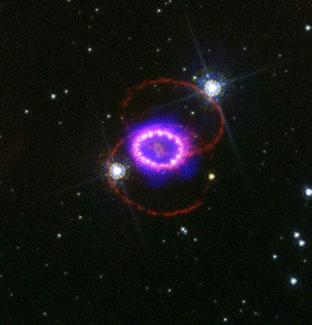 Two-Star Collision Yields Three-Ring Nebula