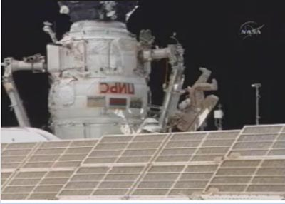 Orbital Finale: ISS Spacewalkers Free Stuck Cargo Ship Antenna