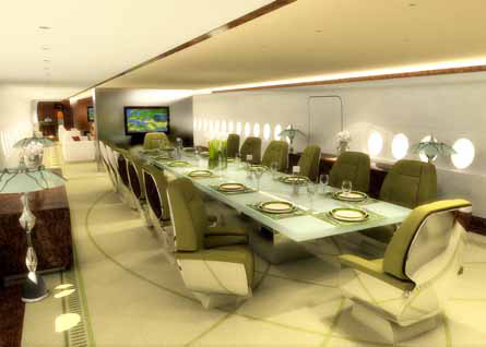 Airbus a380 vip 39 flying palace 39 interior design unveiled for Airbus a380 interior