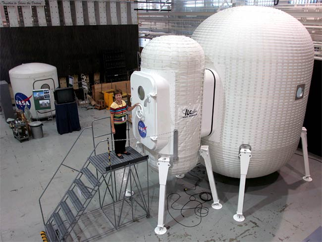 NASA Tests Inflatable Lunar Shelters