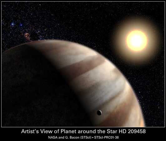 Water Found in Extrasolar Planet's Atmosphere