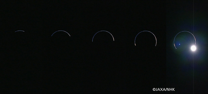Eclipse Seen by Moon Probe as Earth Blocks Sun