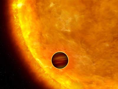 Space Satellite Spots Its First Extrasolar Planet