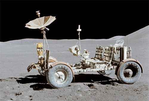Lunar Rover Stands Alone