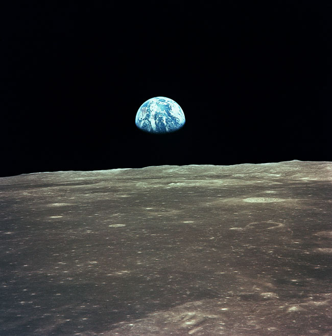 Earth Seen During Apollo 11 Mission