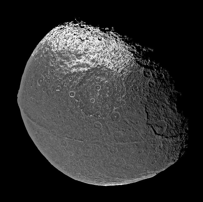 Mystery of Saturn's Walnut Moon Cracked?