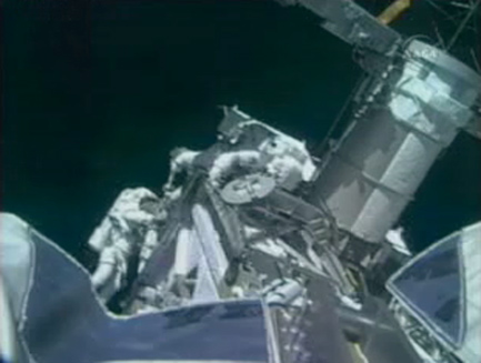 Orbital Construction: Spacewalkers Add New Piece to Space Station