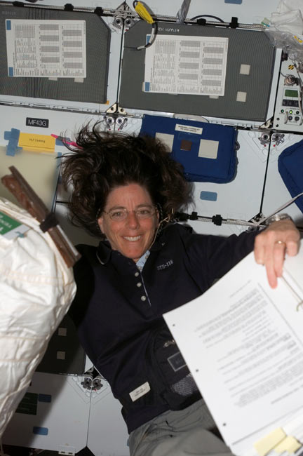 Shuttle Crew Set for Space Lesson, Possible Repair