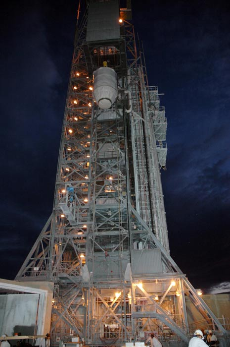 Dawn Spacecraft Arrives on Launch Pad