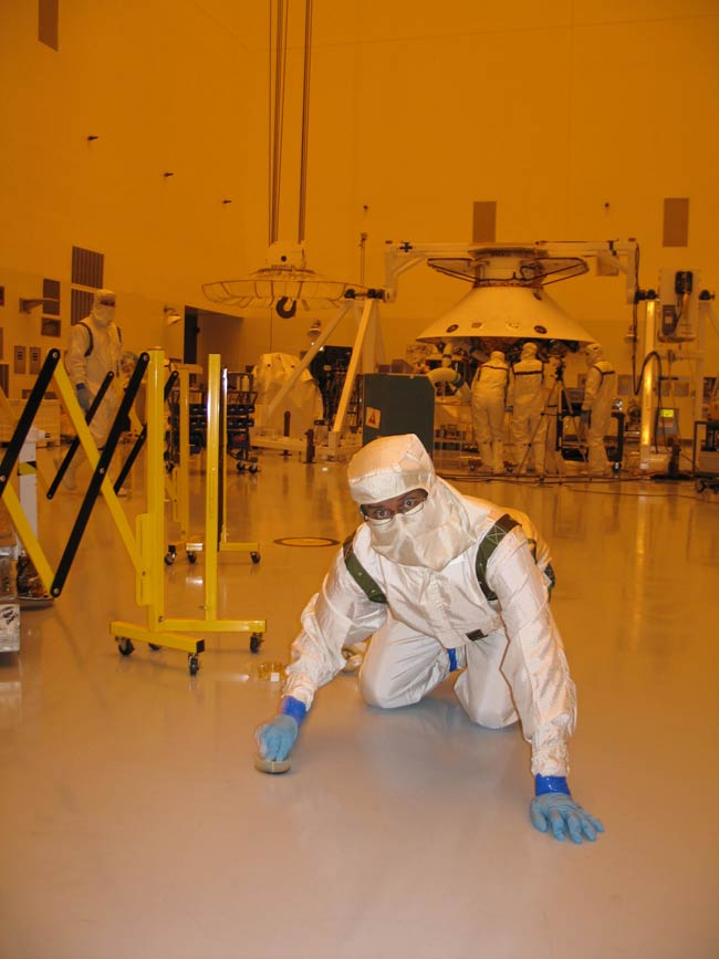 NASA Clean Rooms Loaded with Microbial Stowaways