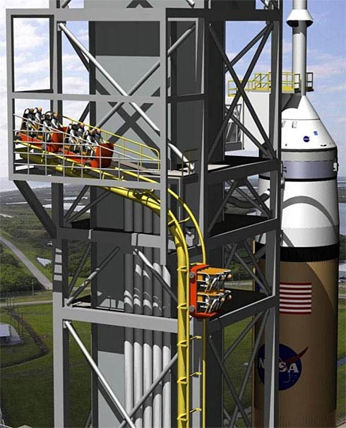 Orion Emergency Egress System: Roller Coaster For Astronauts