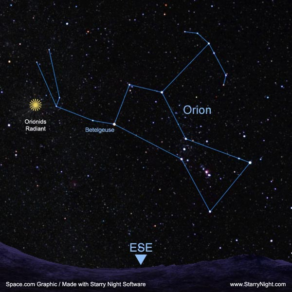 Where to See the Orionids