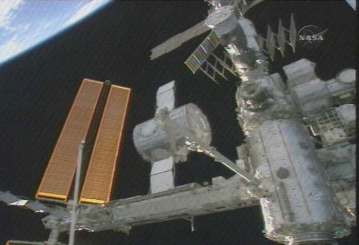 Astronauts Add New Orbital Room to Space Station