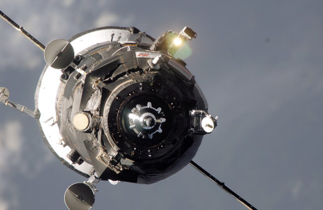 Russian Trash Ship Casts Off from Space Station