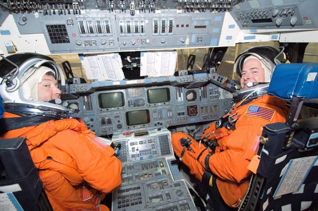Space Shuttle Commander, Pilot Poised for Launch
