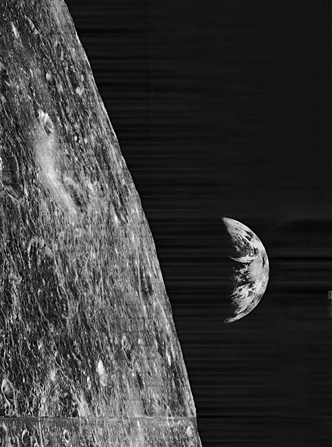 Moon Photos from 1960s Get Digital Facelifts