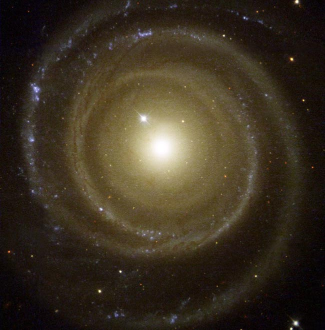 Spiral Galaxy Winds Backwards