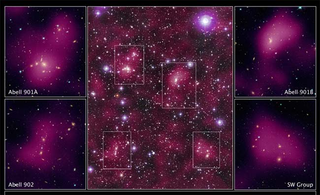 Pools of Invisible Matter Mapped in Space