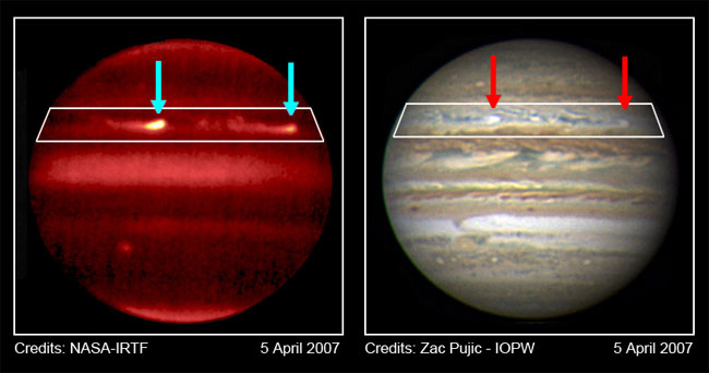 Giant Storms Erupt on Jupiter