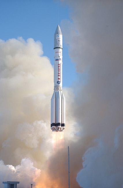 Russian Proton Rocket Launches Norwegian Satellite