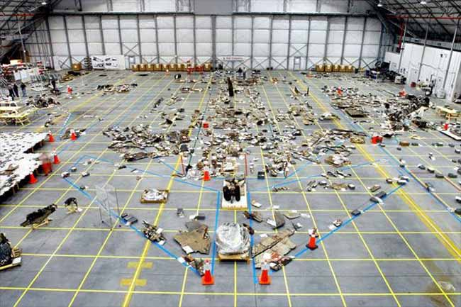 Columbia Debris Display at NASA Promotes Safety