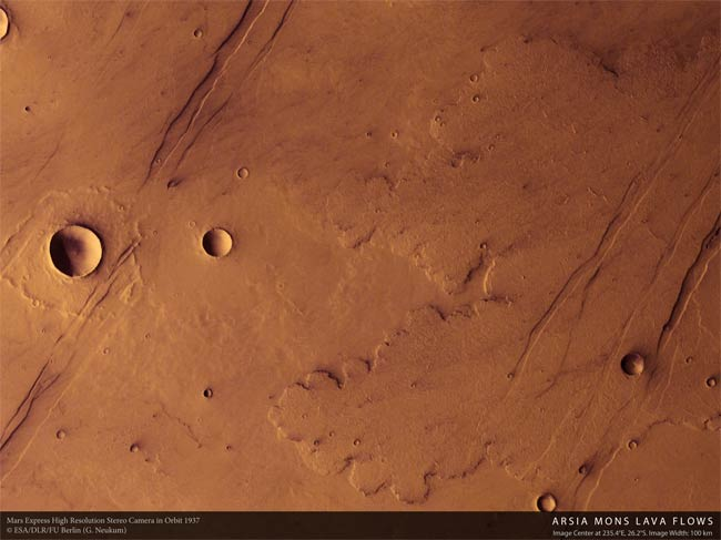 Five Volcanic Episodes On Mars Identified by Scientists