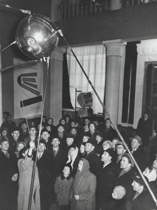Crowd Looking at a Sputnik