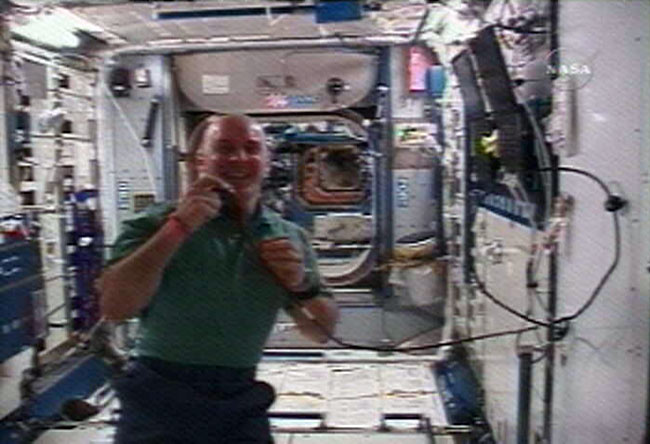 Station Astronaut Laughs it up for 'Colbert Report'