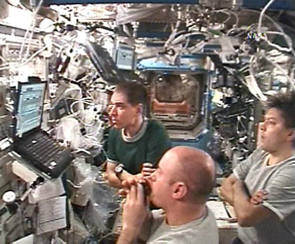 Space Station Crew Awaits Orbital Plumbers