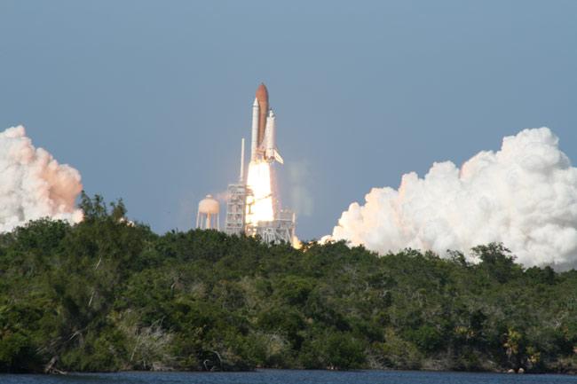 NASA Eyes Launch Pad Damage for Next Shuttle Flight