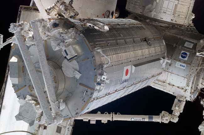 Space Station Ready to Flex Japanese Robotic Arm