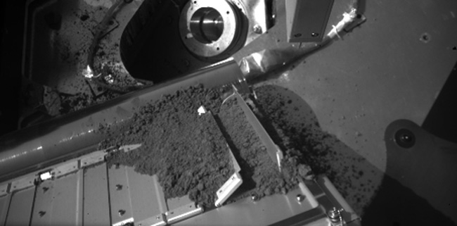 Clumpy Martian Soil Refuses to Budge