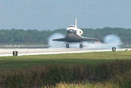 Space Shuttle Discovery Lands Safely