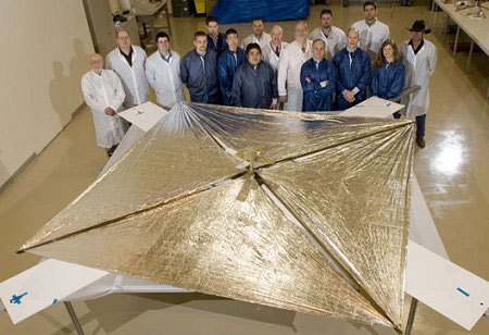 NASA Solar Sail Satellite Ejects from Mothership in Space