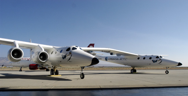 Virgin Galactic Unveils Space Liner Mothership