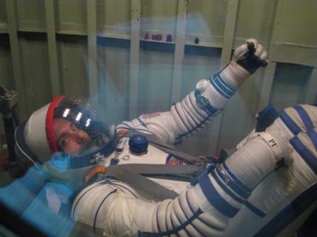 Private Spaceman Suits Up