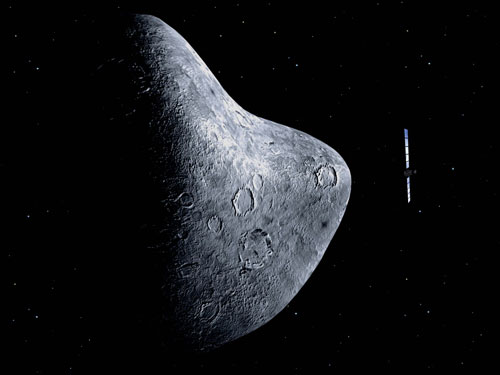 Spacecraft Tracks Asteroid For Rendezvous