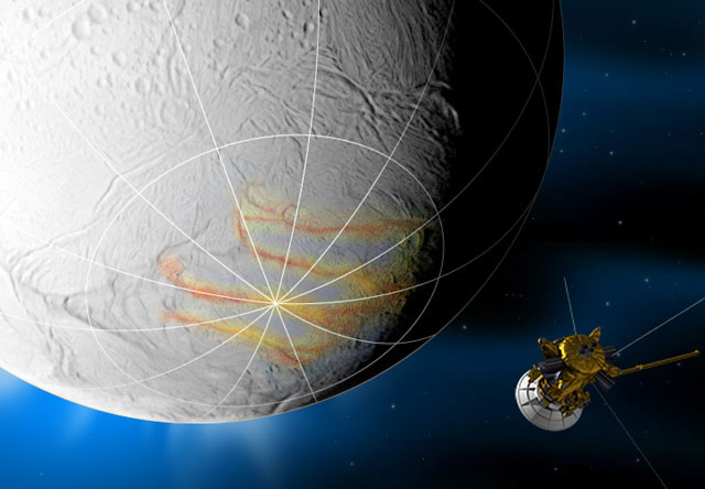 Cassini Spacecraft Revisits Icy Saturn Moon