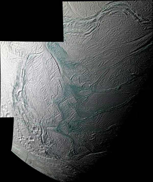 Mosaic of Saturn's Moon Enceladus