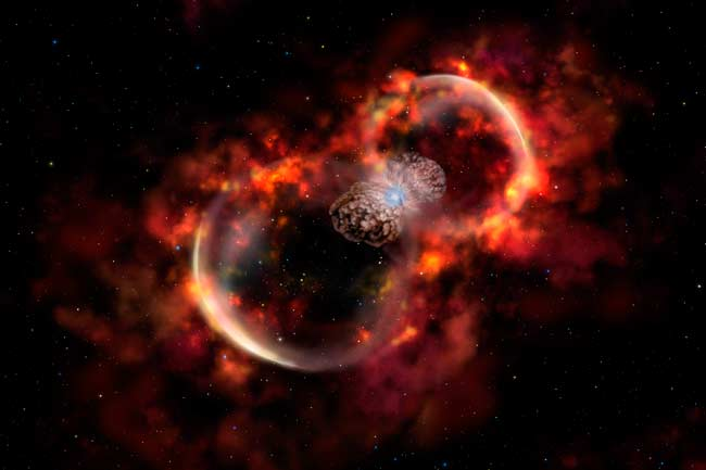 Secret of Nearby Explosive Star Revealed