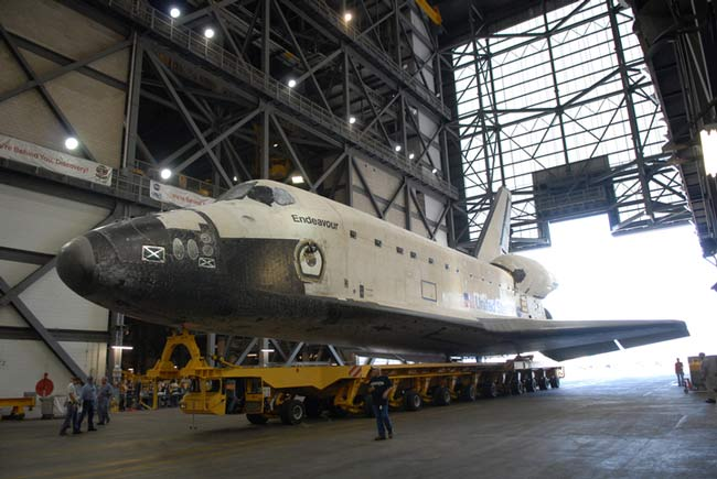 NASA Moves Rescue Shuttle, Prepares for Hurricane Ike